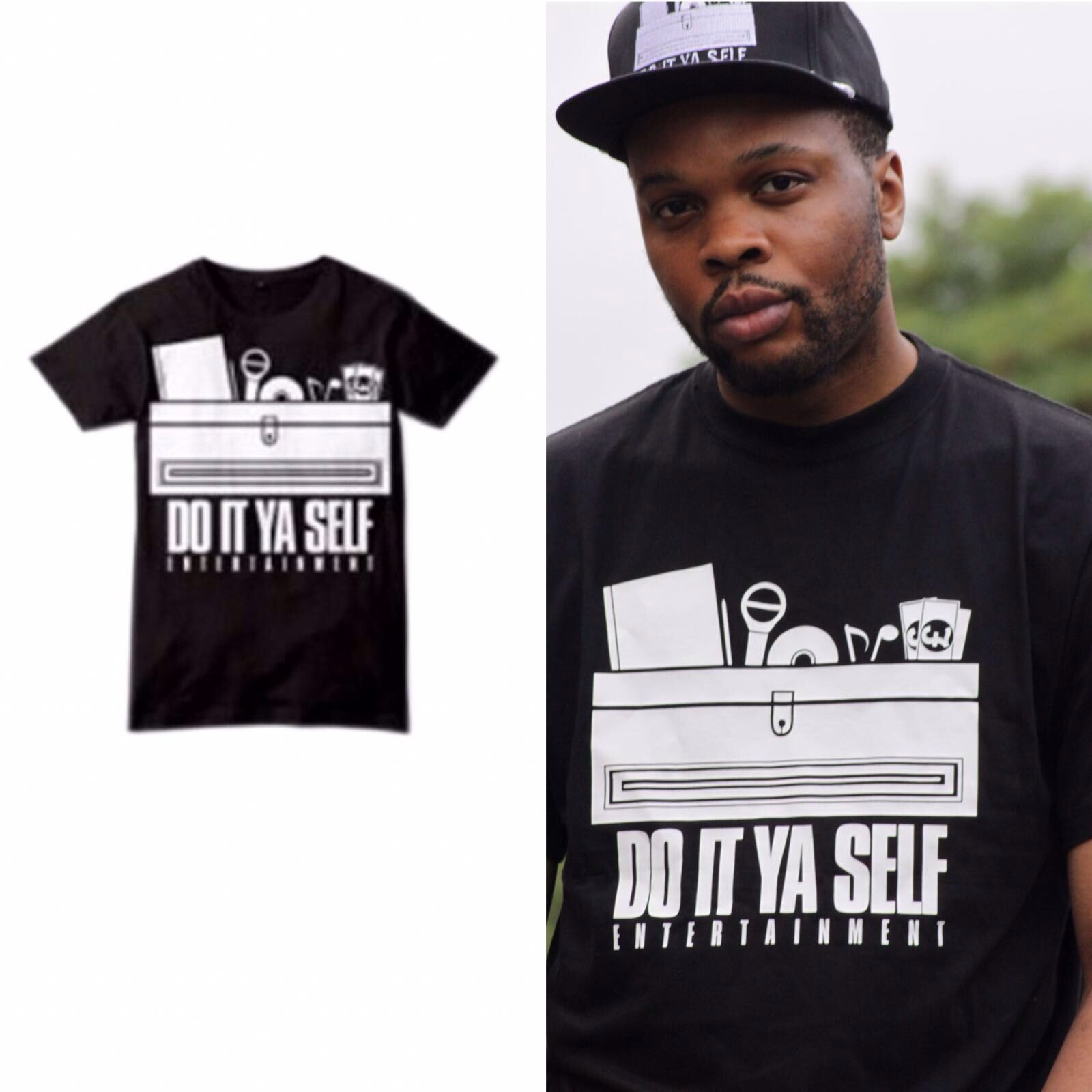 Do It Ya Self Entertainment : T-Shirt Crewneck (Classic Black) 18