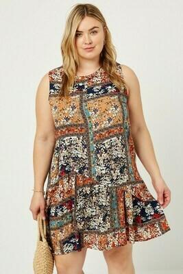 scarf print dress