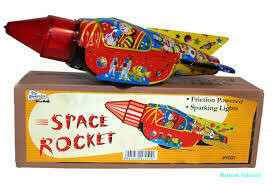 Sparkling Space Rocket