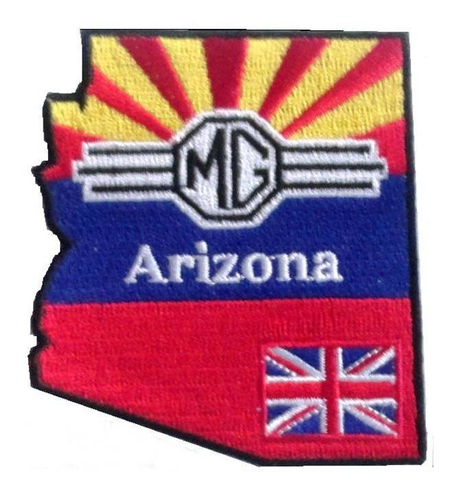 (04)  Arizona MG Club Embroidered Patch 04