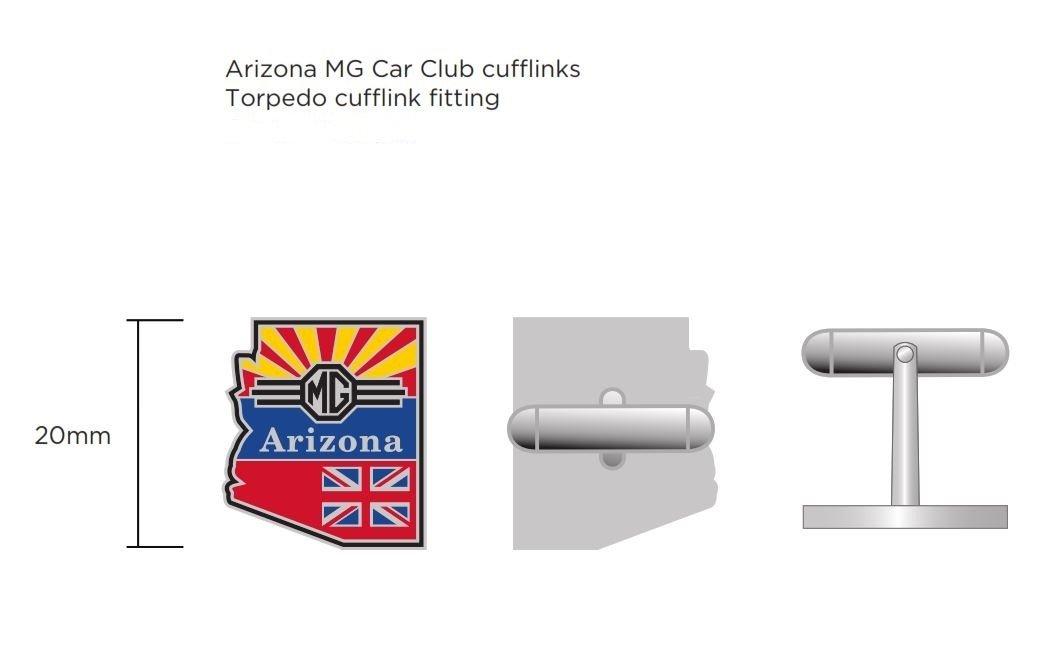 Arizona MG Club Cufflinks