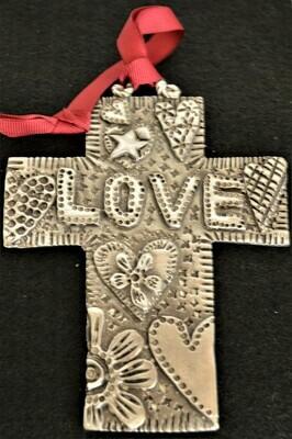 Metal Love Cross
