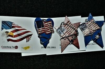 Patriotic Pins by Cedarberg Fusion