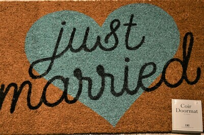 Coir Door Mat for Newly Weds