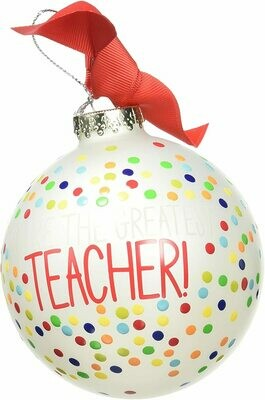 Greatest Teacher Ornaments by Coton