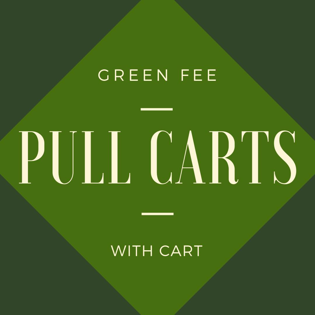 GREEN FEE + CART - pull carts