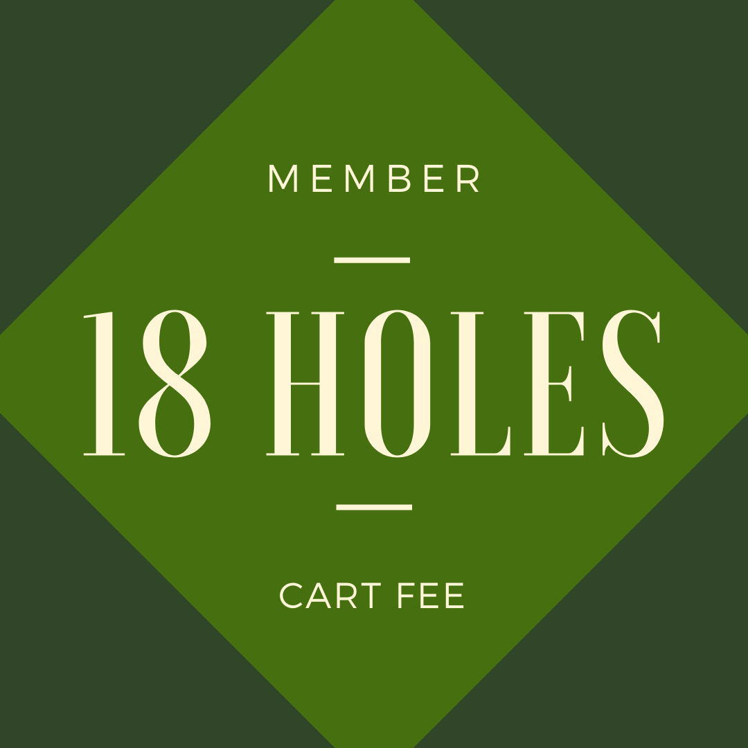 MEMBER CART FEE - 18 holes