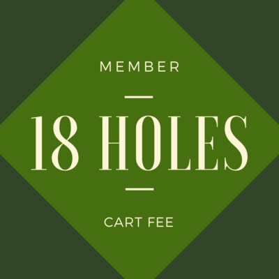 MEMBER CART FEE - 18 holes
