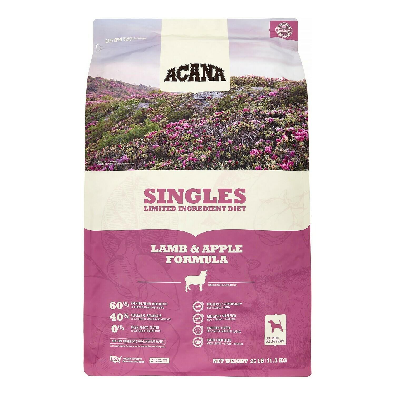 Acana Singles Lamb and Apple 25lb