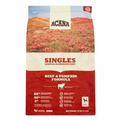 Acana Singles Beef & Pumpkin 25lb