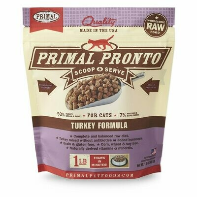 Cat - Primal Pronto Turkey 1lb
