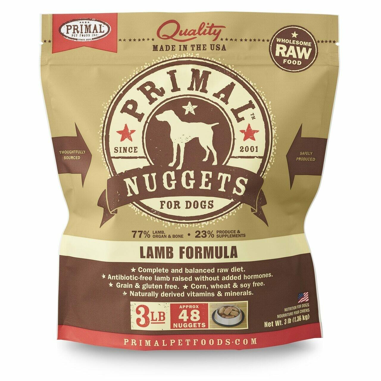 Primal Frozen Lamb Formula 3lb