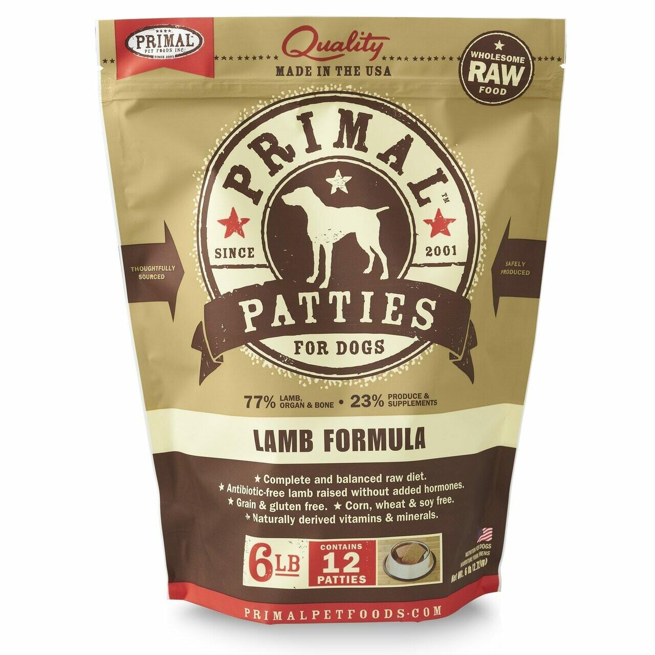 Primal Frozen Lamb Formula 6lb