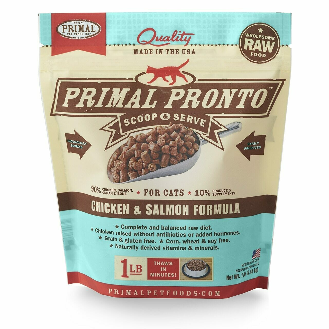 Cat - Primal Pronto Chicken & Salmon 1lb