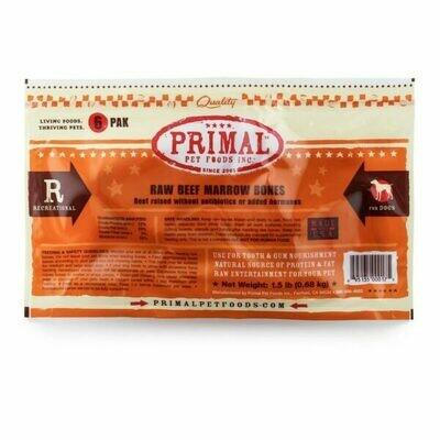 """Primal 2"""" Beef Bones 6 Pack"""