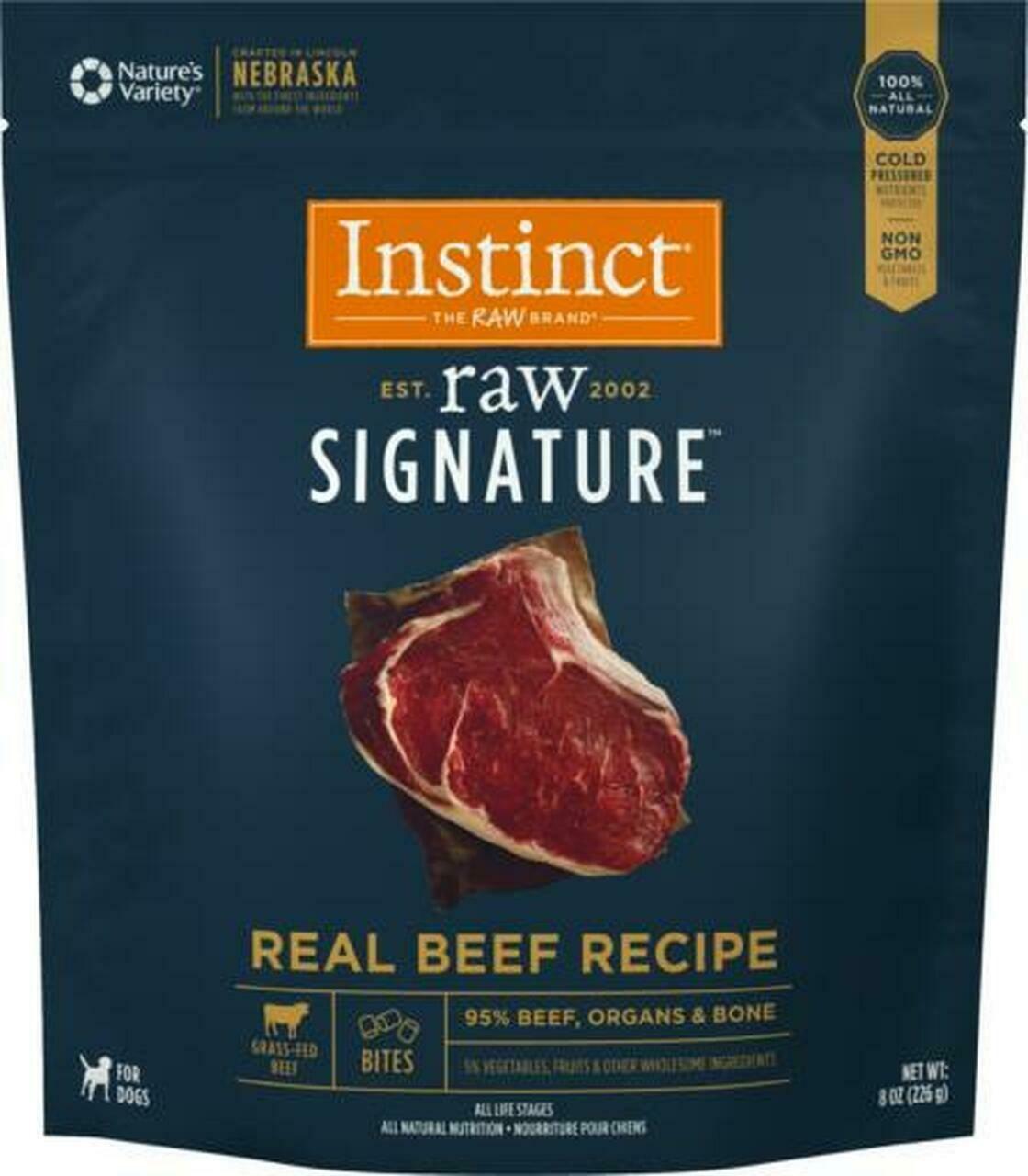 Instinct Signature Raw Frozen Beef Bites 4lb