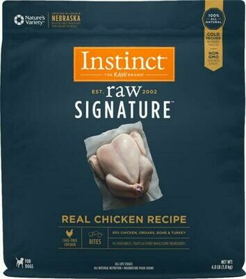 Instinct Signature Raw Frozen Chicken Bites 4lbs
