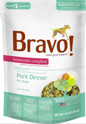 Bravo Freeze Dried Pork - 3oz