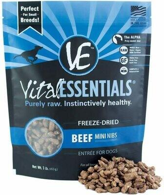 Vital Essentials Freeze Dried Beef Mini Nibblets 1lb