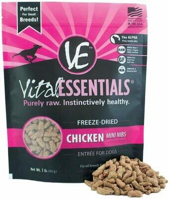 Vital Essentials Freeze Dried Chicken Mini Nibblets 1lb