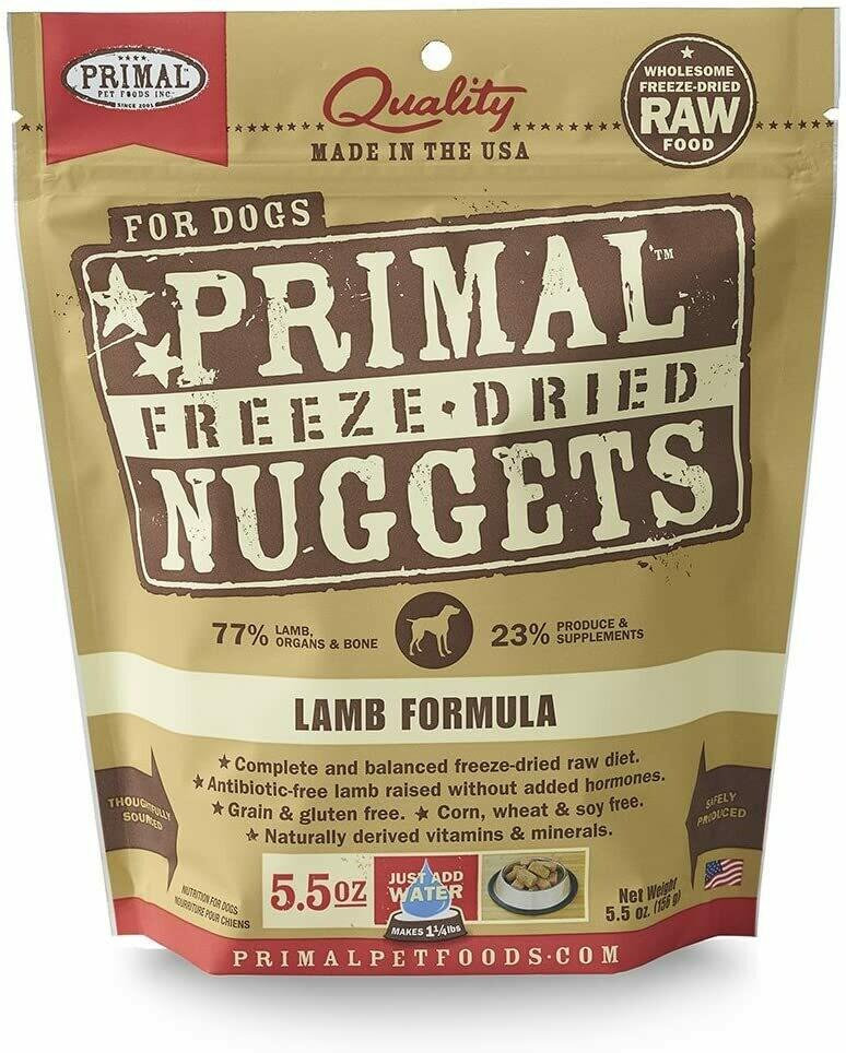 Primal Freeze Dried Lamb 5oz