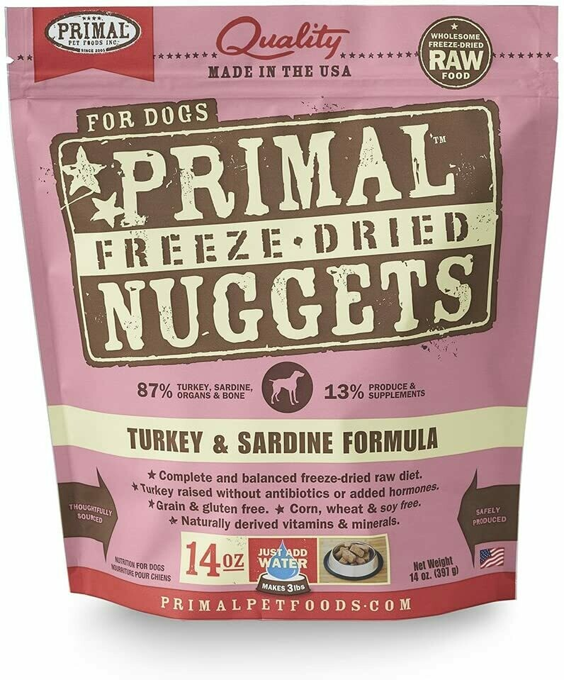 Primal Freeze Dried Turkey and Sardine14oz