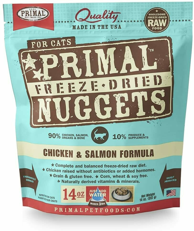 Cat - Primal Chicken & Salmon Freeze Dried Formula 14oz