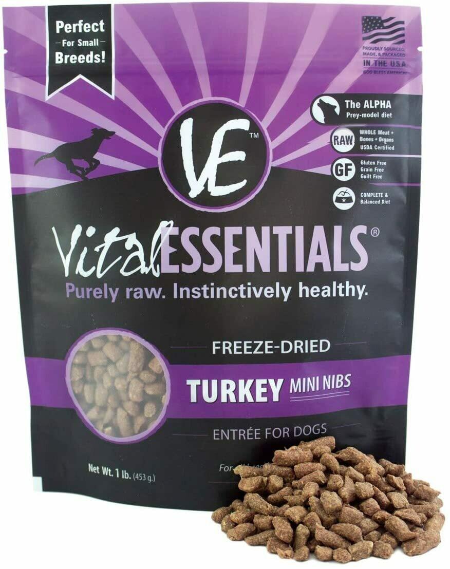 Vital Essentials Freeze Dried Turkey Mini Nibblets 1lb