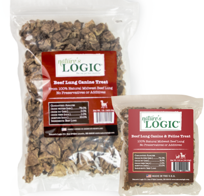 Nature's Logic Beef Lung Bag 1lb