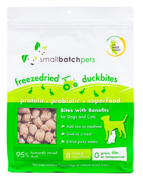Small Batch Freeze Dried Duck Bites 7oz