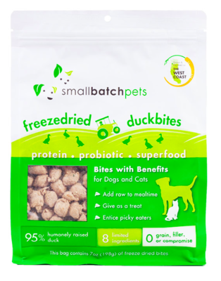 Small Batch Freeze Dried Duck Bites 7oz