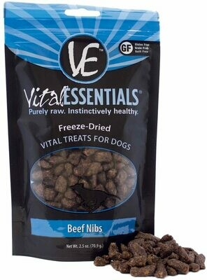 Vital Essential Freeze Dried Beef Nib 2.5oz