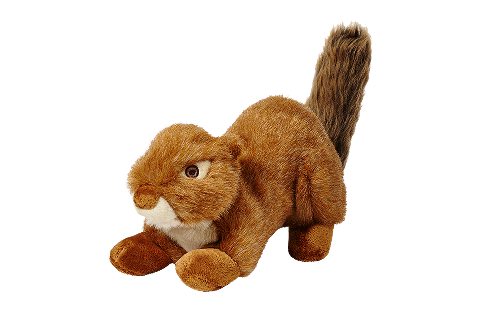 Fluff n Tuff Red Squirrel Squeakerless