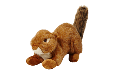 Fluff n Tuff Red Squirrel Squeakerless