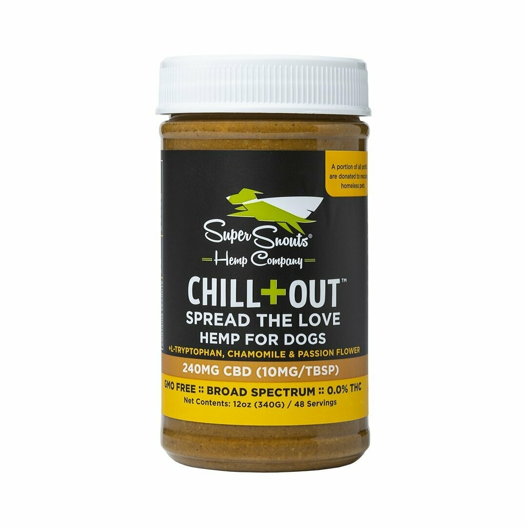 Super Snouts Chill Out CBD Peanut Butter 12 oz