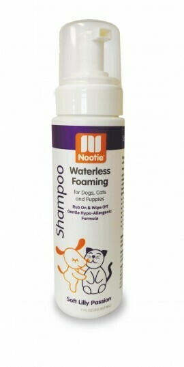 Nootie waterless foaming Soft Lily Passion Shampoo 7oz
