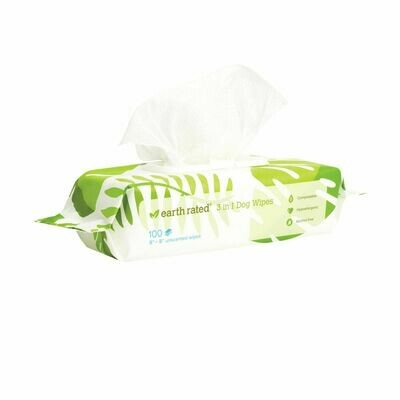 Earth Rated 100ct Wipes Unscented