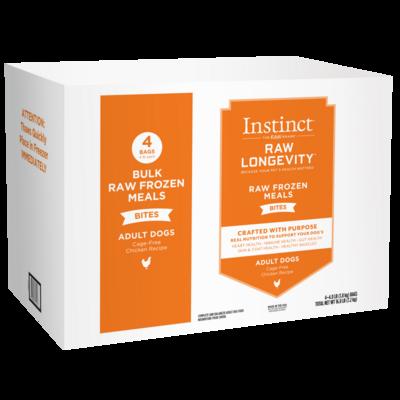 Instinct Longevity Adult Frozen Chicken Bites Bulk 16lb (Reg $117.99)
