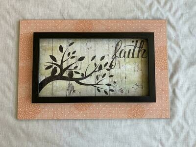 12x18 Faith Plaque