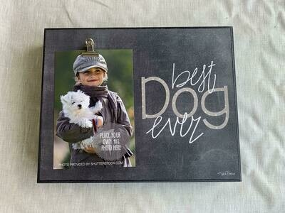 8x10 Best Dog Ever Box frame