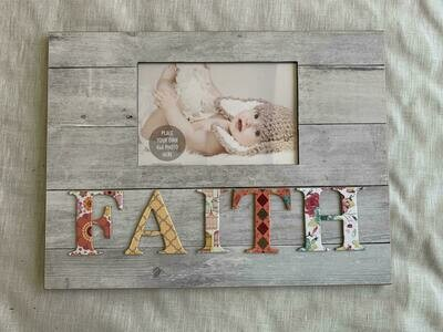 9x12 Faith cutout plaque frame