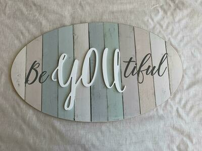 BeYOUtiful Plaque with popup