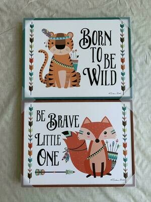 Born to be wild & Be Brave open frames-2 assort