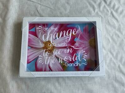 Be The Change Shadowbox 9x12