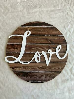 Love Circle Plaque*