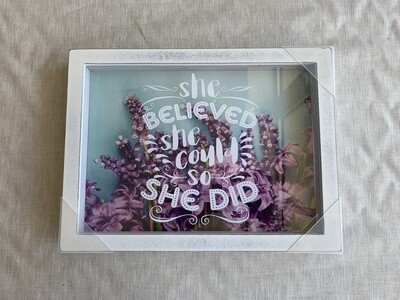 She Believed Floral Shadowbox 9x12