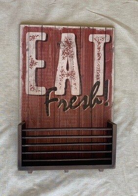 Eat Fresh Basket 12.5x18.5