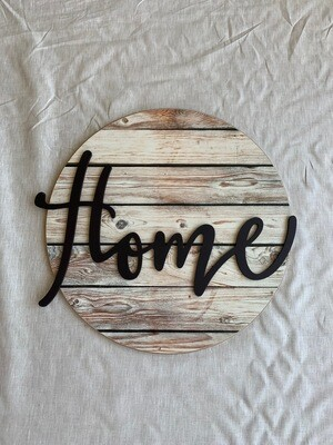 Home Circle Plaque*