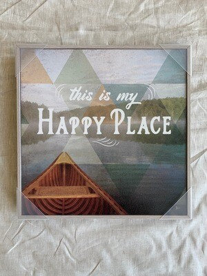 Happy Place Open Frame