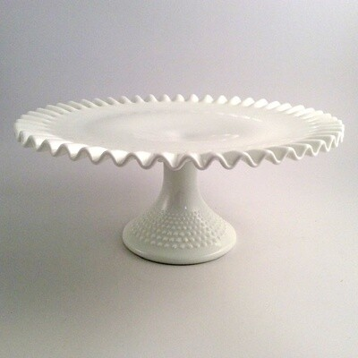White Glass Cake Stand